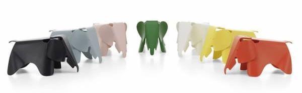 Eames Elephant di Vitra disponibile anche in giallo e grigio