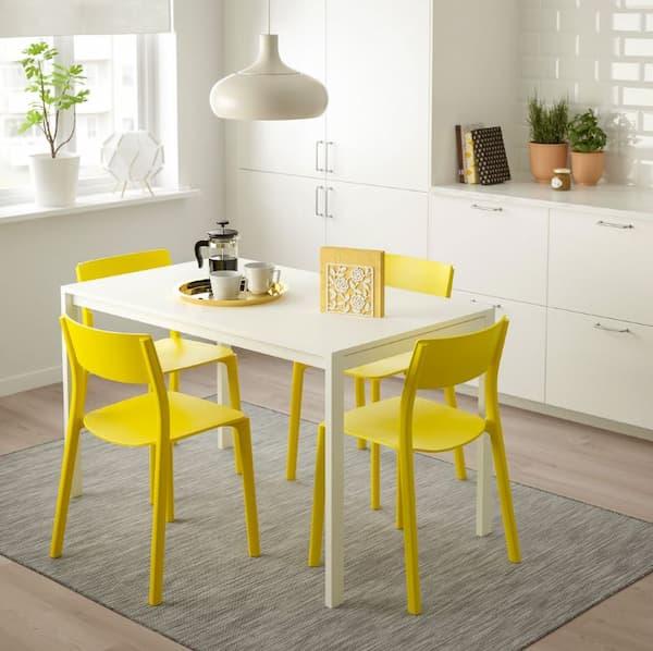 Sedie gialle Janinge di IKEA