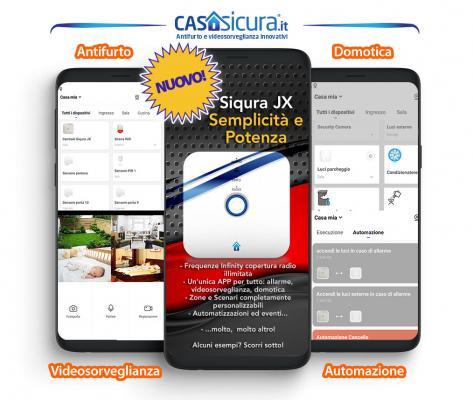 Sistema allarme casa, Casasicura, novità Siqura JX