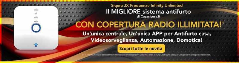 Siqura JX radio coverage - Photo by Casasicura.it