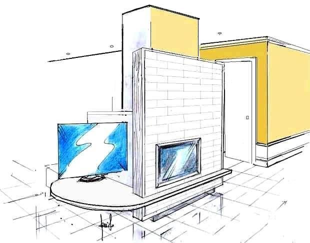 Camino con TV disegno di progetto