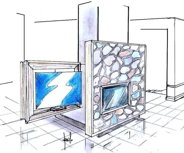 Interparete camino e TV