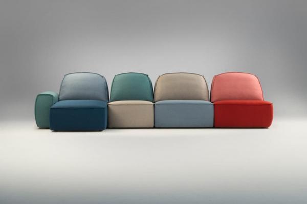 Divano modulare multicolore Lazy - Foto by Studio Pastina