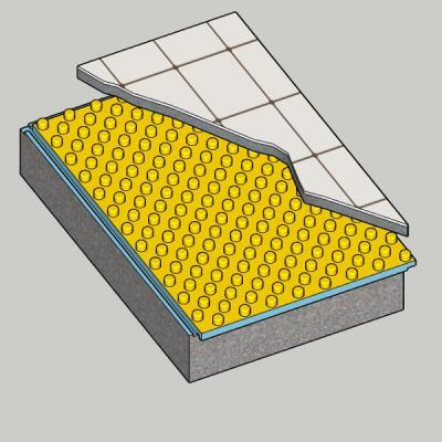 Isolamento solaio per posa impianto termico a pavimento