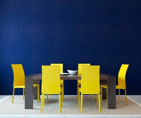 Blu navy zona pranzo,da homedecorideas.eu