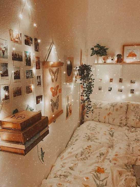 Camera da letto cottagecore, da okchicas.com