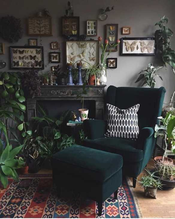 Stile goth cottagecore, da apartmenttherapy.com