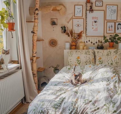 Camera da letto cottagecore, da kpuntosina.cn