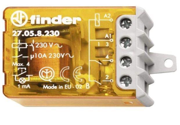 Un relè commutatore della Finder