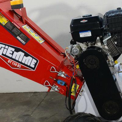Dettaglio del motore della cippatrice a scoppio GIEMME