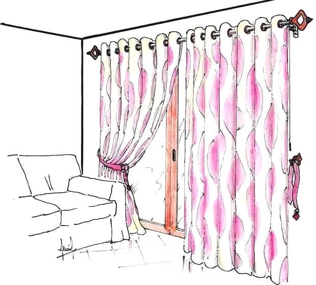 Tenda da interno con bastone metallo - legno