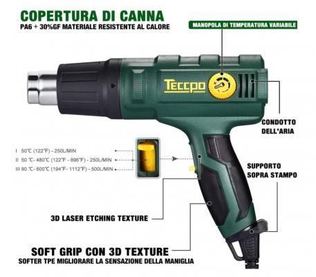 Specifiche tecniche pistola termica TECCPO
