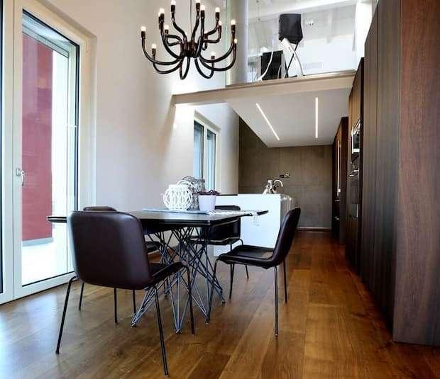 Parquet in cucina, CP parquet, modello Veneto