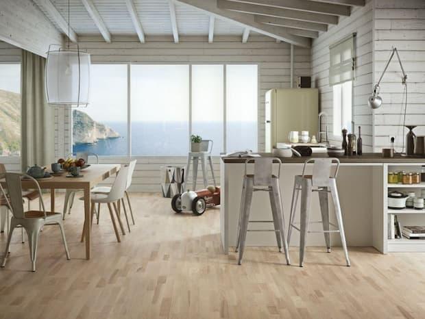 Parquet in cucina, Ash Platinum, Iperceramica
