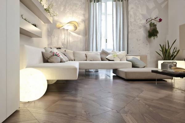 Arredo soggiorno, soluzioni con divano Lago