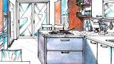 Progetto cucina 13 mq