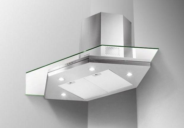 FABER Premio model hood in glass and steel