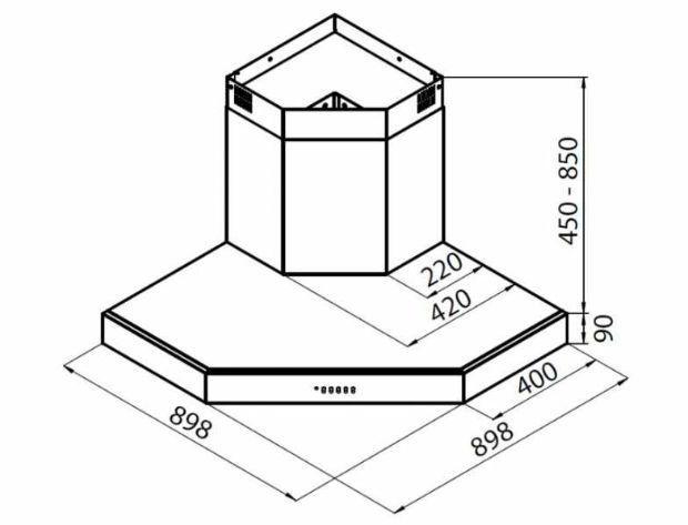 Schema della cappa Pitagora della FOSTER