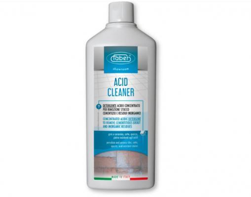 Acid cleaner della Faber per pulizia dopo cantiere