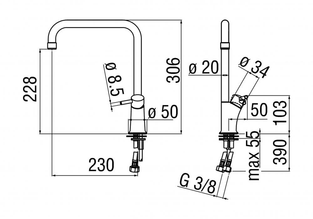 Schema tecnico del modello ALESSIO della delò