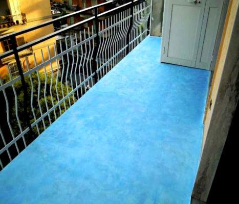 Pavimento in resina eseguito all'esterno, by kromax