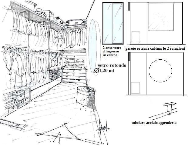 Interno cabina armadio in camera 15 mq