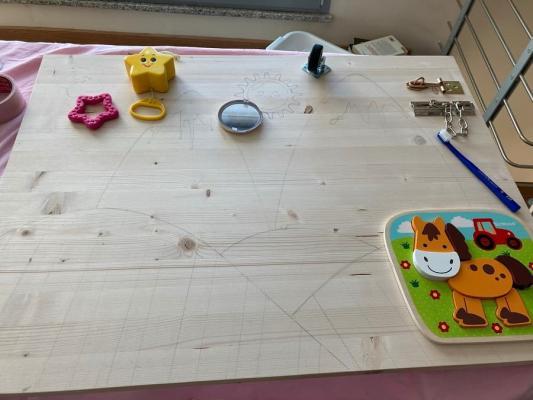Pannello Montessori fai da te, fase 1