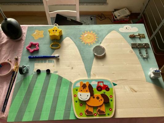 Pannello Montessori fai da te, fase 2