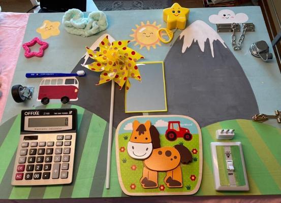Pannello Montessori fai da te, fase 3