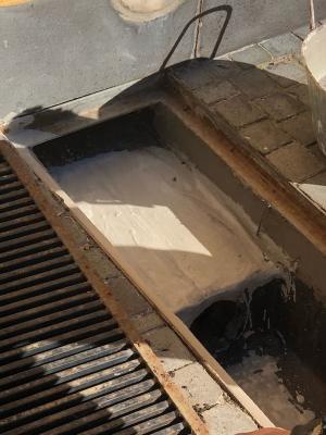 Impermeabilizzazione della canaletta di drenaggio
