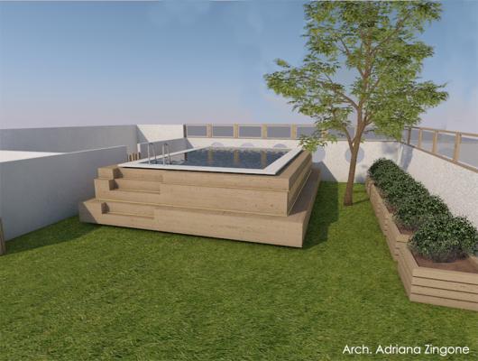 Ipotesi di progetto piscina fuori terra