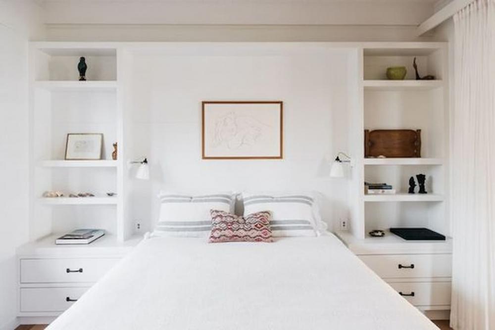 In camera da letto inserire il letto in una parete attrezzata salva spazio - Pinterest