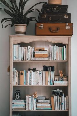 Alternare libri e oggetti aiuta a rendere più equilibrata la composizione