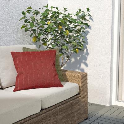 Festholmen, fodera cuscino rossa e beige - Foto: Ikea