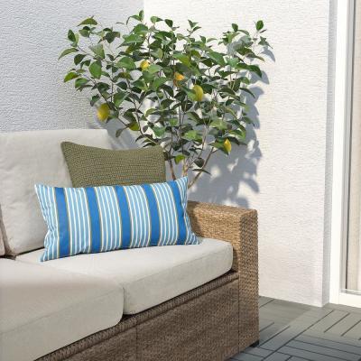 Funkön, cuscino da esterni a righe blu - Foto: Ikea