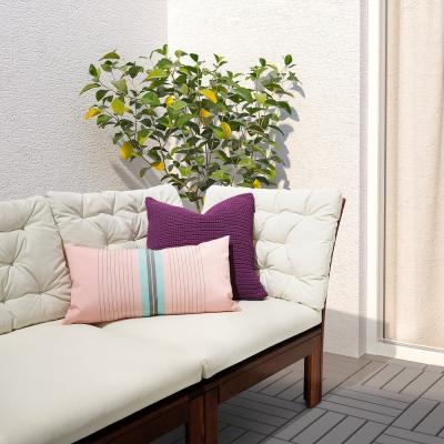 Funkön, cuscino da esterni rosa e azzurro - Foto: Ikea