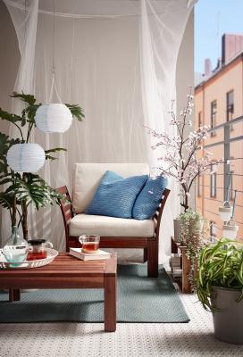 Sötholmen, fodera cuscino per esterni di colore azzurro - Foto: Ikea