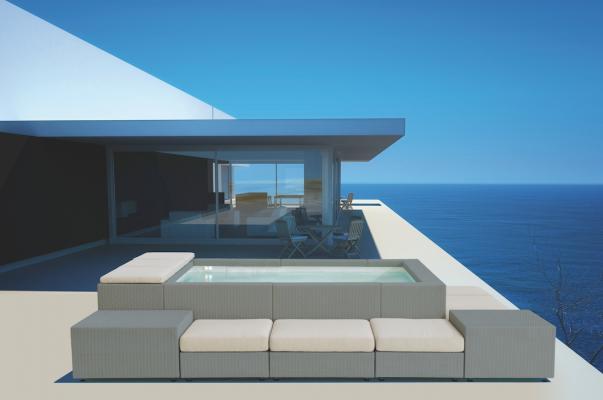 Minipiscina da esterni Playa Living grigio - Foto: Piscine Laghetto