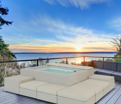 Minipiscina da terrazza Playa Living bianca - Foto: Piscine Laghetto
