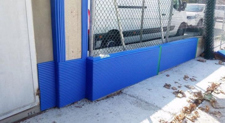 Protezione Giwa su un muretto esterno