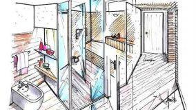 Come progettare un bagno con doccia e sauna intercomunicanti