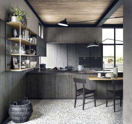 Cucina con tavolo penisola by Scandola