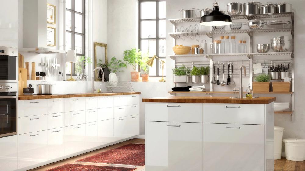 Cucine prive di pensili, proposte IKEA