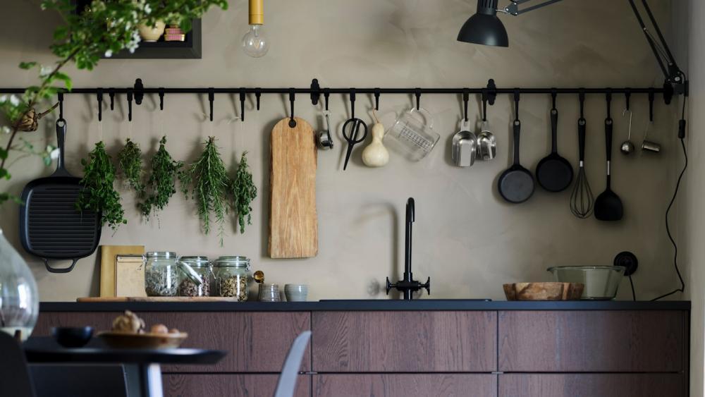 Cucine senza pensili, proposta IKEA