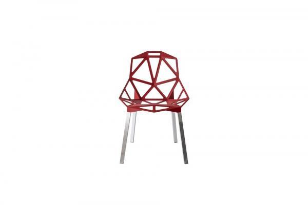 Sedie alluminio Magis design Chair One rosso