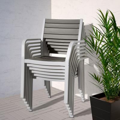 Sedie alluminio Sjaelland Ikea impilabile
