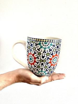 Tazza decorata DUO con motivi marocchini