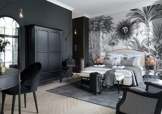 Camera da letto nera e bianca Maison du Monde