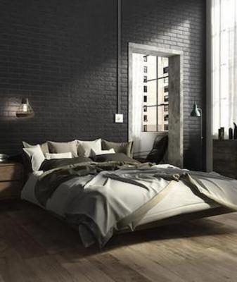 Camera da letto nera Ragno Ceramiche