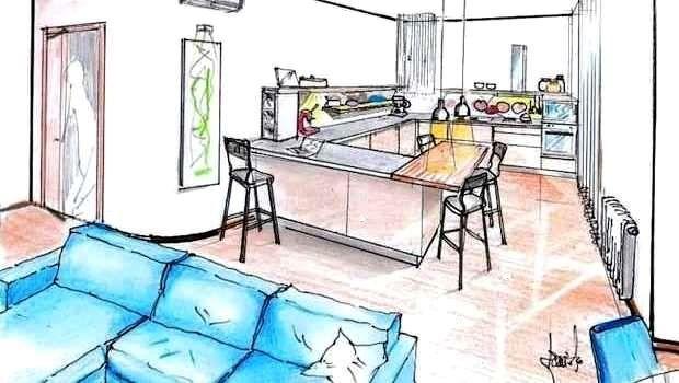 Cucina soggiorno open space: idee per spazi aperti e funzionali